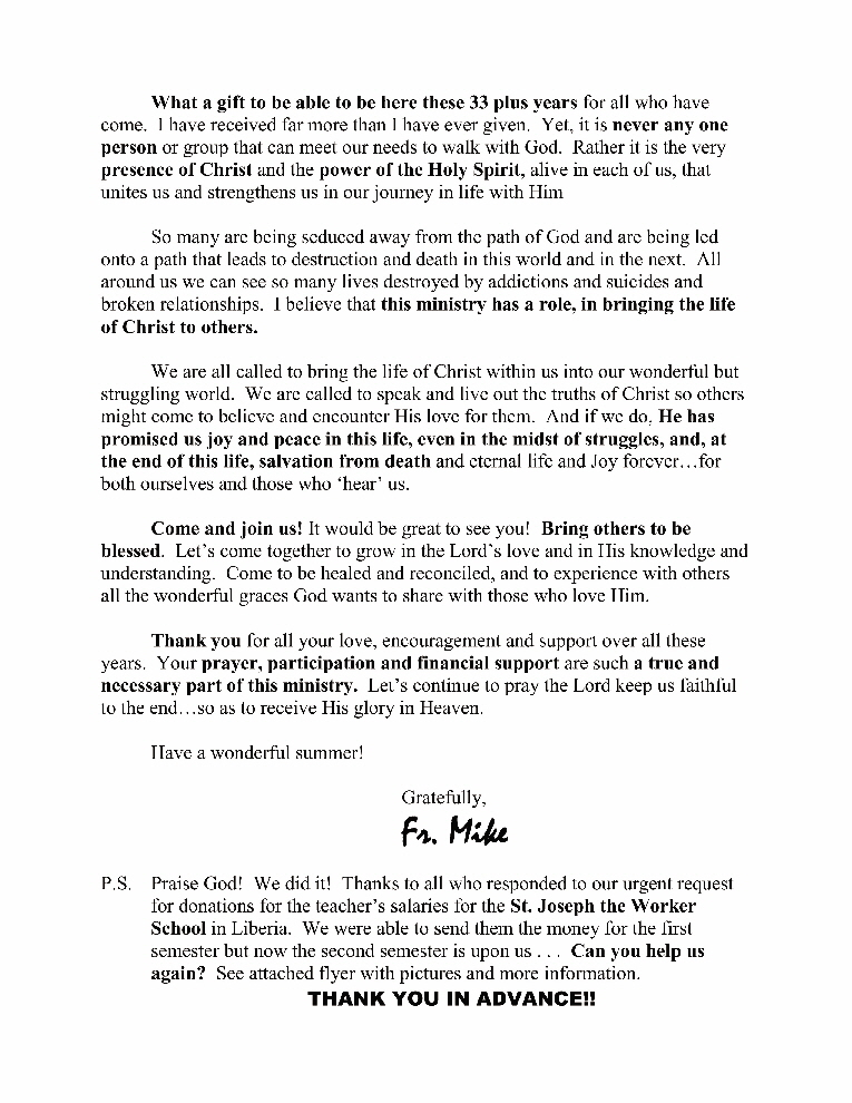 summer 2015 Letter - page 2